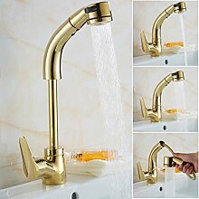 Wasserhahn,3 Farben Herausziehen Waschbecken