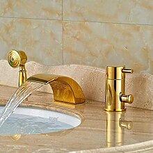 Wasserhahn 3 Stücke Goldene Polnische Badewanne