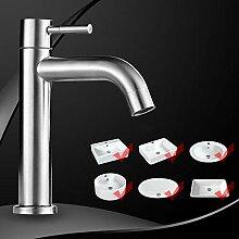 Wasserhahn 304 edelstahl einzigen kalten becken
