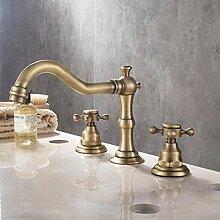 Wasserhahn Antike Geteilte Drei-Wege-Waschbecken