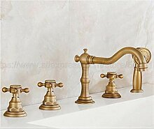Wasserhahn Antike Messing 5 Stücke Bad Badewanne