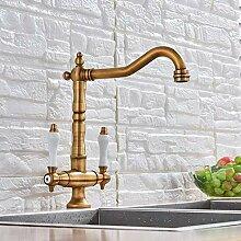Wasserhahn Antike Messing Küchenarmatur Grad