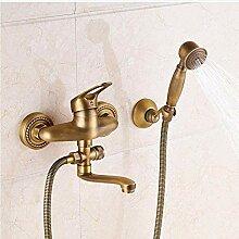 Wasserhahn antike Messing Wand Bad Dusche