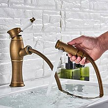 Wasserhahn Antique Brass Pull Out Basin Wasserhahn