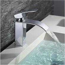 Wasserhahn Bad Armatur Wasserfall Mischbatterie