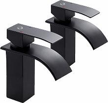 Wasserhahn Bad Chrom LED RGB Glas