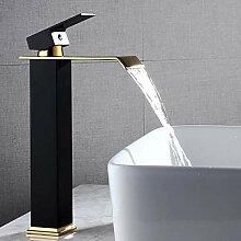 Wasserhahn Bad Wasserfall Hoch Waschtischarmatur