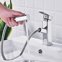 Wasserhahn Badarmatur mit ausziehbarem Spray