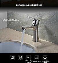Wasserhahn Badarmaturen aus gebürstetem Nickel