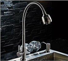 Wasserhahn Badewanne 304 Edelstahl Gebürstet