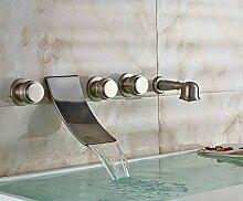 Wasserhahn Badezimmer Küche Gebürstetes Nickel