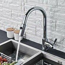 Wasserhahn Chrom Küchenarmatur Drehen Sie kalte