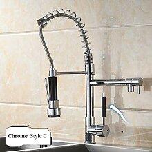 Wasserhahn Chrom Messing Becken Küchenarmatur