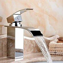 Wasserhahn Deck Mount Wasserfall Badezimmerhahn