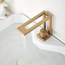 Wasserhahn Design Basin Square Brushed Gold