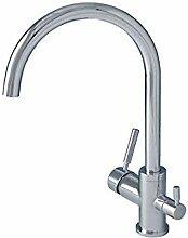 Wasserhahn Drei-Wege-Küchenarmatur Für Warmes,