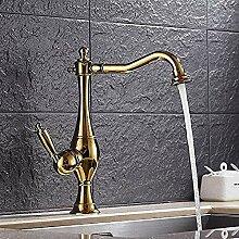 Wasserhahn DreieckventilMessing Gold Farbe Becken