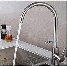 Wasserhahn Edelstahl Küchenarmatur für kaltes