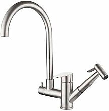 Wasserhahn Edelstahl Multifunktions-Küchenarmatur
