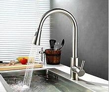 Wasserhahn Edelstahl Pull Wasserhahn Gebürstet