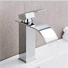 Wasserhahn Einhand Wasserfall Badezimmer Mixer