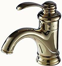 Wasserhahn europäischen Antike heiße und kalte Mischbatterie Einhebel Mischbatterie Waschbecken Wasserhahn, gold
