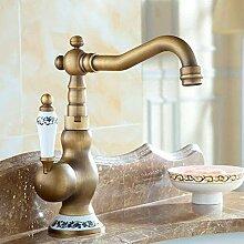 Wasserhahn, für Badezimmer, Antik-Bronze,