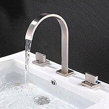 Wasserhahn für Waschbecken Chrom / gebürstet /