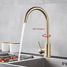 Wasserhahn Gebürstet Gold Küchenarmaturen