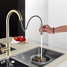 Wasserhahn Gebürstet Golden Küchenarmatur Spüle