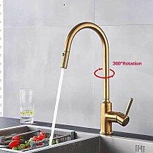 Wasserhahn Gold Ausziehbare Küchenarmaturen