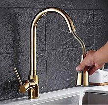 Wasserhahn Gold Küchenarmatur Gold Messing Für