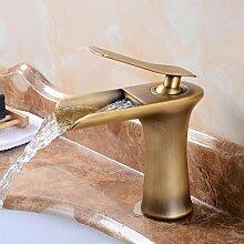 Wasserhahn,Gold Waschtischarmaturen Wasserfall