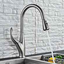 Wasserhahn Küche Chrom/Schwarz/Gebürstet Ziehen