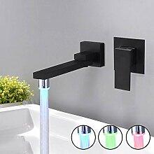 Wasserhahn Küche Edelstahl Wand-Led-Waschbecken