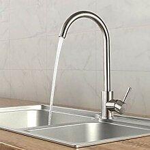 Wasserhahn Küche Edelstahl, WOOHSE 360° drehbar