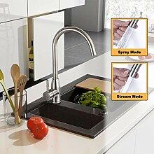 Wasserhahn Küche Edelstahl, WOOHSE Küchenarmatur