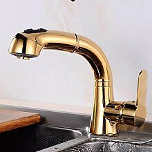 Wasserhahn Küche Gold Ausziehbar Mischbatterie