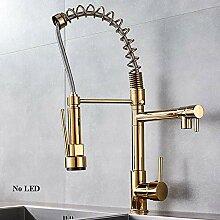 Wasserhahn Küche Messing Gold Küchenarmatur