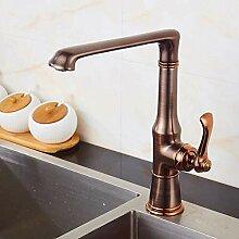 Wasserhahn Küche Messing Roségold/Schwarz