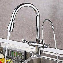 Wasserhahn Küche verchromt Drei-Wege-Mischhahn
