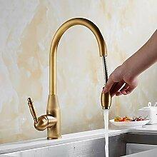 Wasserhahn,Küchenarmatur Antiken Messing