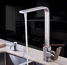 Wasserhahn Küchenarmatur Chrom Messing Deck