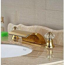 Wasserhahn Küchenarmatur Golden Finish Wasserfall