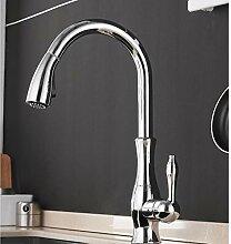 Wasserhahn,Küchenarmatur Schwarz Einhebelmischer