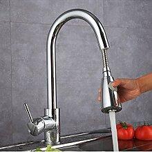 Wasserhahn,Küchenarmatur Silber Schwarz Einhand