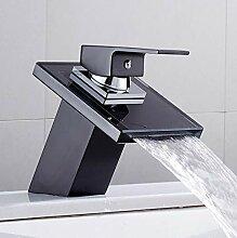 Wasserhahn KüchenarmaturMassivglas Wasserfall
