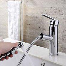 Wasserhahn Kupfer Kalt Pull Art Becken