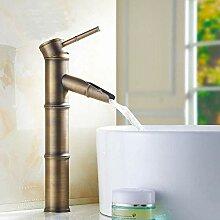 Wasserhahn Kupfer Schwarz Bambus Stil Waschbecken