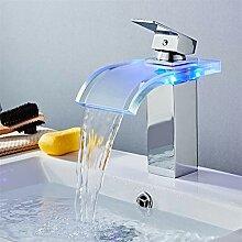 Wasserhahn LED Becken Wasserhahn Messing